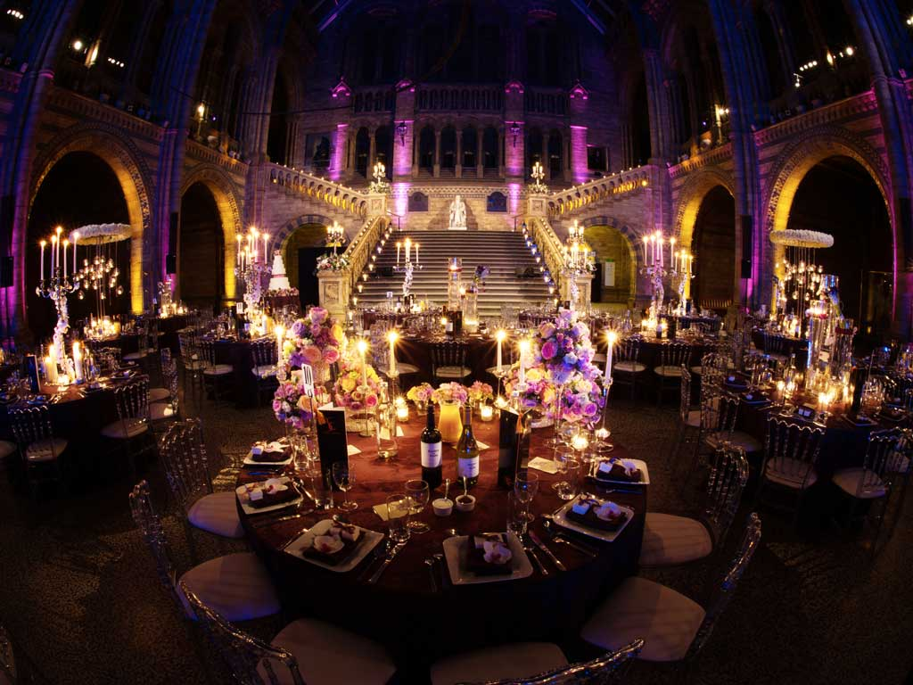 Wedding Reception In Hintze Hall Natural History Museum