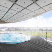 Hot tub on the balcony of BSpa - Brooklands Hotel