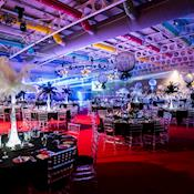Hall 1 dinner set up - Yorkshire Event Centre