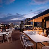 Stunning views overlooking historic Royal Victoria Docks, outdoor Bar - Good Hotel London