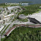 Overview of whole Convention - 500,000 sqm of Venue property - Oslofjord Convention Center