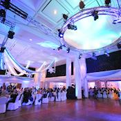 Royal Armouries Hall set for a Christmas Party - NEW DOCK Hall and Royal Armouries Museum