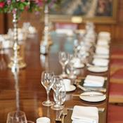 Queen's Room table set - The Honourable Society of the Middle Temple