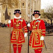Yeoman Warders in front of the White Tower - HM Tower of London