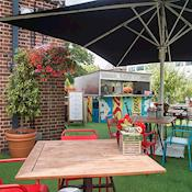Burger Shack Terrace - The Alexander Pope Hotel