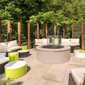 Garden View Seating Area - The Bedford Hotel